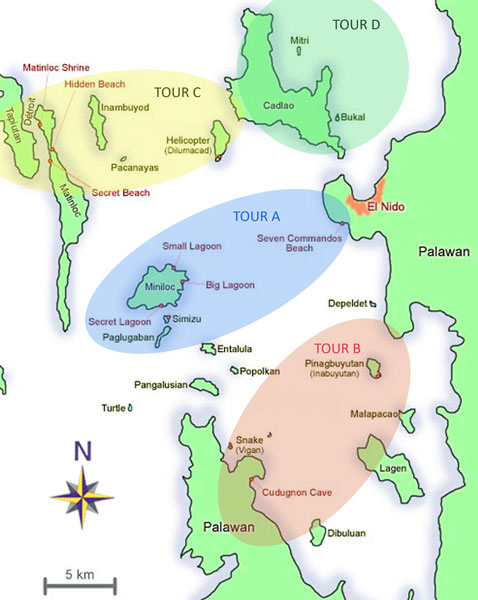 el_nido_tour_map