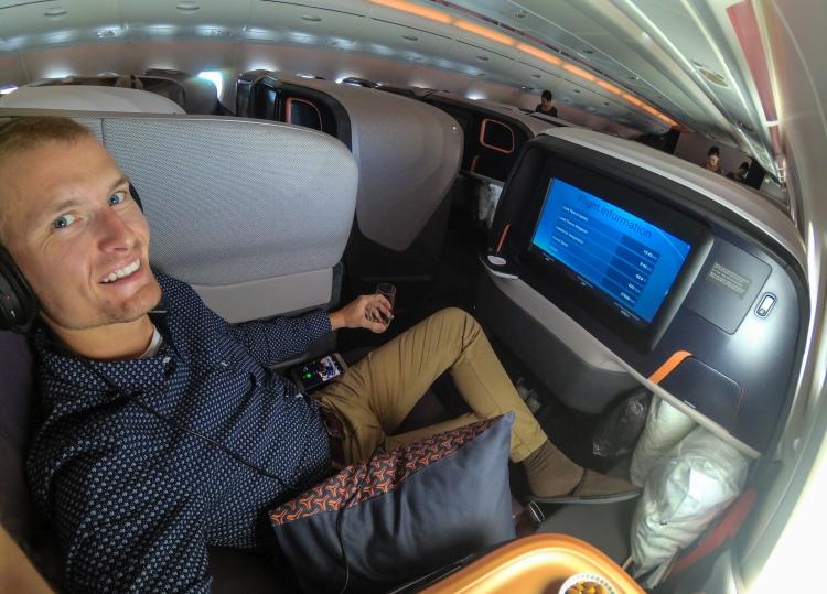 Poranek w Sydney i lot Singapore Airlines (A380) w klasie biznes